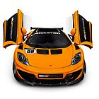 McLaren 12C GT Sprint supercar front open butterfly doors art photo print by ArtNudePhotos