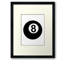 Billiards eight 8 ball Framed Print