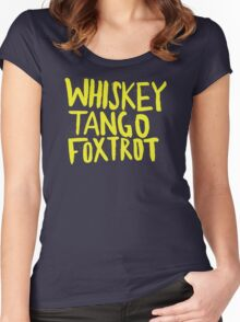 Whiskey Tango Foxtrot - Color Edition Women's Fitted Scoop T-Shirt