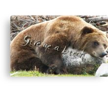 Ours au Wyoming Canvas Print