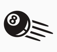 Black billiards eight 8 ball One Piece - Short Sleeve