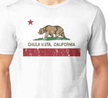 Chula Vista California Republic Flag Distressed Unisex T-Shirt