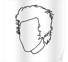 Harry Styles Outline Drawing Poster