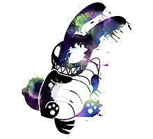 Crazy Bunny Graffiti Photographic Print