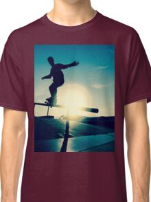 Skateboarder silhouette on a grind Classic T-Shirt