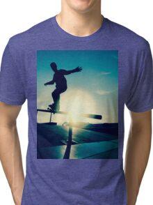 Skateboarder silhouette on a grind Tri-blend T-Shirt