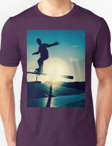 Skateboarder silhouette on a grind Unisex T-Shirt