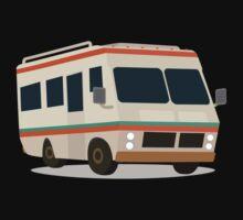 Vintage RV camper cartoon Kids Tee