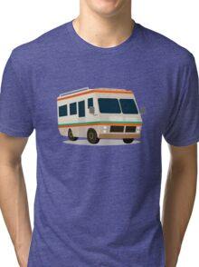 Vintage RV camper cartoon Tri-blend T-Shirt