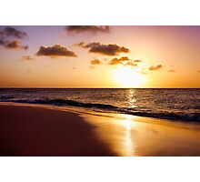 A Golden Sunset Photographic Print