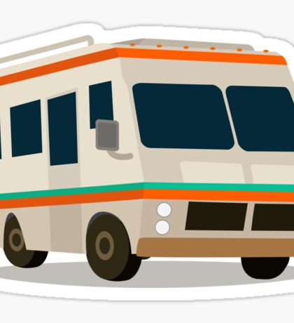 Vintage RV camper cartoon Sticker