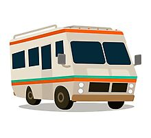 Vintage RV camper cartoon Photographic Print