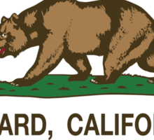 Oxnard California Republic Flag  Sticker