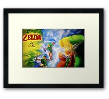 Legend of Zelda (link) Framed Print