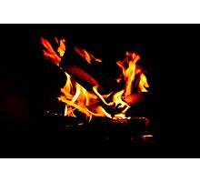 The Fire Dances to it's Own Tune Photographic Print