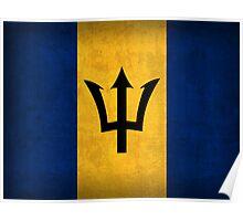 Barbados Flag Poster