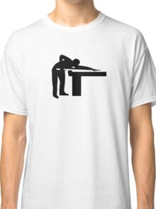 Billiards player pool table Classic T-Shirt