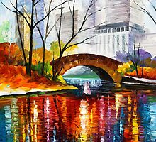 CENTRAL PARK - NEW YORK  by Leonid  Afremov