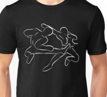 Karate Fight (White Line) Unisex T-Shirt