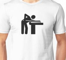 Billiards player logo Unisex T-Shirt