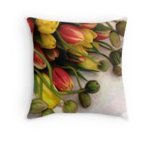 Tulips and Poppies, Wrapped Throw Pillow