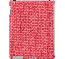 Pink fabric texture iPad Case/Skin