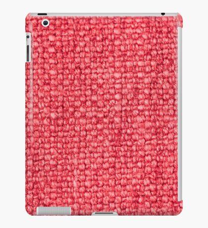 Pink fabric texture iPad Case/Skin