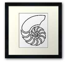 Nautilus Outline Framed Print