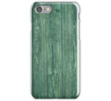 Green painted wood texture iPhone Case/Skin