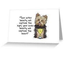 Inner Beauty Yorkies! Greeting Card