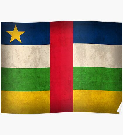 Central African Republic Flag Poster