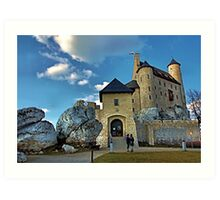 castle in Bobolice a beautiful sunny day Art Print