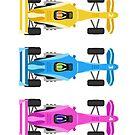 Five Race Cars  by Alejandro Durán Fuentes