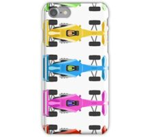 Five Race Cars  iPhone Case/Skin