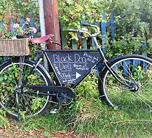 Black Dog Deli Bicycle Walberswick Suffolk by AndyLanhamArt