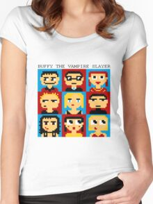 Buffy 8-Bit Women's Fitted Scoop T-Shirt