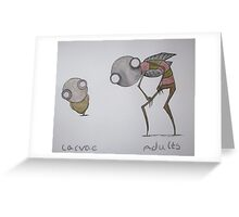 Insect Study Greeting Card