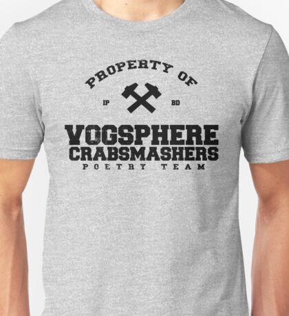 Property of Vogsphere Crabsmashers Poetry Team Unisex T-Shirt