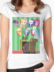 My dead ponnies Women's Fitted Scoop T-Shirt
