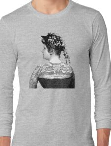 Tattooed Victorian Woman Long Sleeve T-Shirt