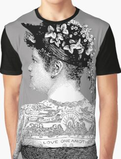 Tattooed Victorian Woman Graphic T-Shirt