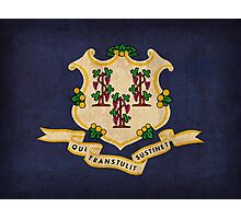 Connecticut State Flag Photographic Print