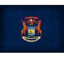 Michigan State Flag Photographic Print