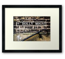 To Holly Mount Framed Print