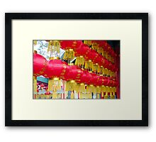 Chinese Red Lanterns Framed Print