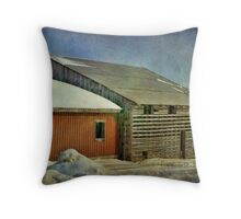 The two barns Throw Pillow
