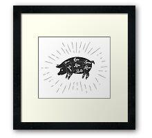 Pork meat cuts  Framed Print