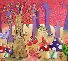 The Enchanted Wood Acrylic Painting by Kristy Spring-Brown