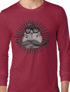 Hipster Dino Long Sleeve T-Shirt