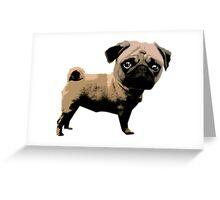 Pop Art Pug. Greeting Card